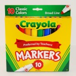 10 Pack of Crayola Classic Markers